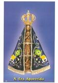 Santinhos de Oração Nossa Senhora Aparecida   SJO Artigos Religiosos