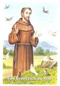Santinhos de Oração São Francisco de Assis   SJO Artigos Religiosos