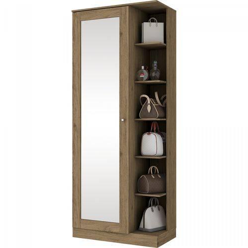 Sapateira 1 Porta com Espelho Happy Siena Móveis Rústico