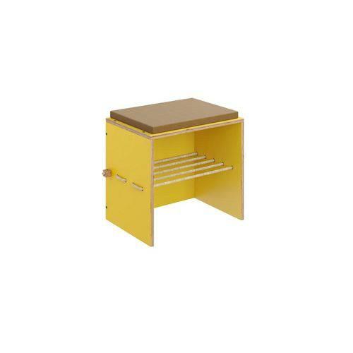 Sapateira com Banco Cordel Amarelo