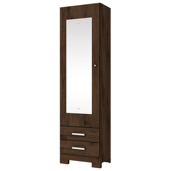 Sapateira Leon 1 Porta com Espelho - Café