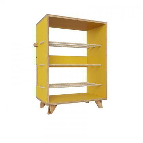 Sapateira 3 Níveis Cordel-amarelo - Be Mobiliário