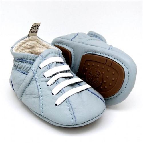 Sapatenis para Bebê Pedro Lucas - Azul Céu/Branco