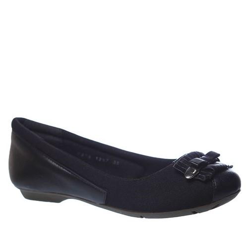 Sapatilha Feminina Joanete em Couro Preto 1297 Doctor Shoes