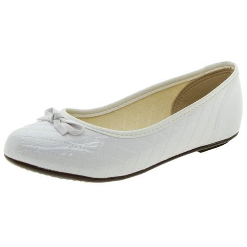 Sapatilha Infantil Feminina Branca Molekinha - 2052337