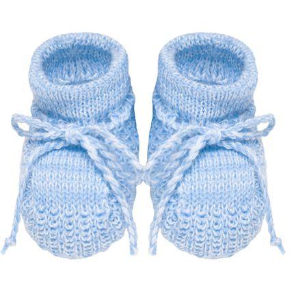 Sapatinho para Bebê em Tricot Azul - Roana