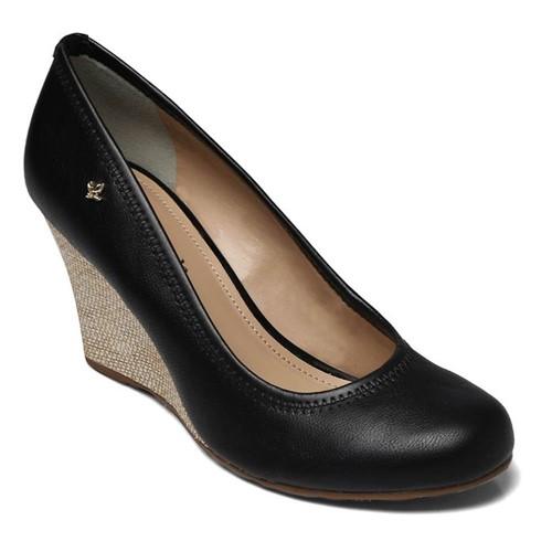 Sapato Anabela Cravo e Canela New Pele Preto 158001