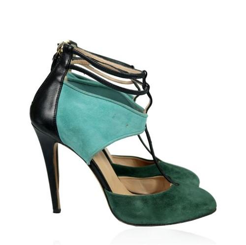 Sapato Aquazzura Camurça Verde