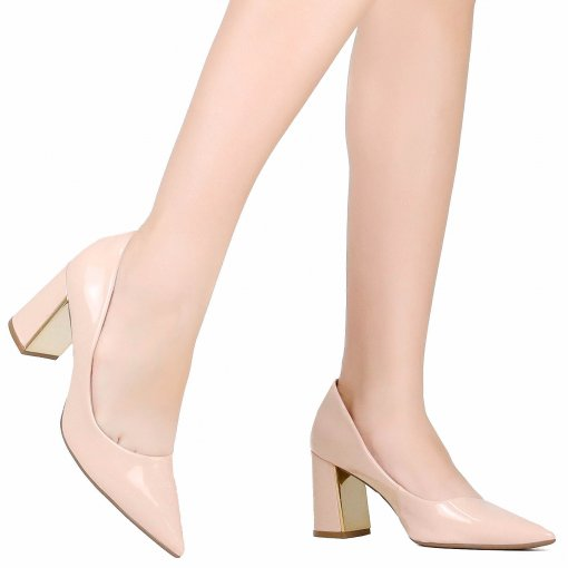Sapato Bebecê Scarpin Salto Grosso | Betisa