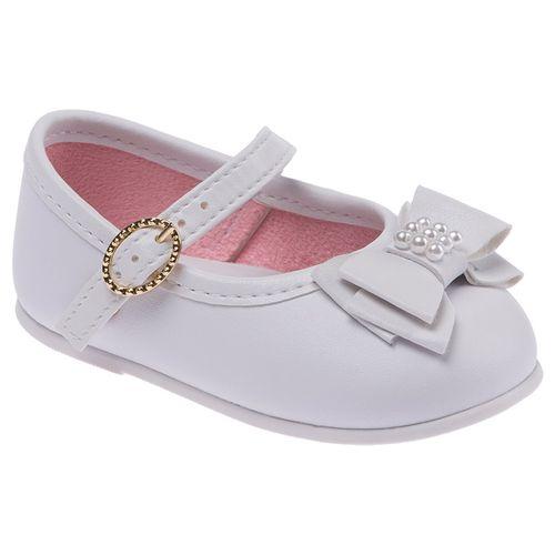 Sapato Branco Laço - 19