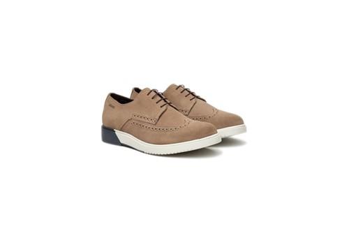 Sapato Camurça Sola Bicolor - Marrom - 39