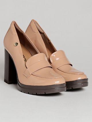 Sapato de Salto Feminino Quiz Bege