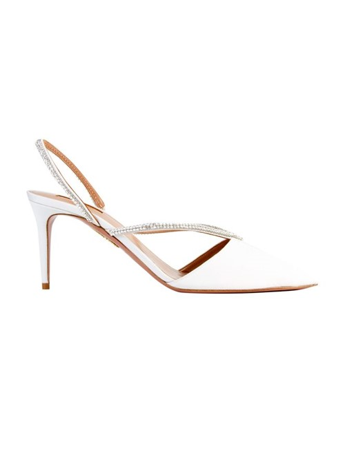 Sapato Eden Crystal 75 Branco Tamanho 35,5