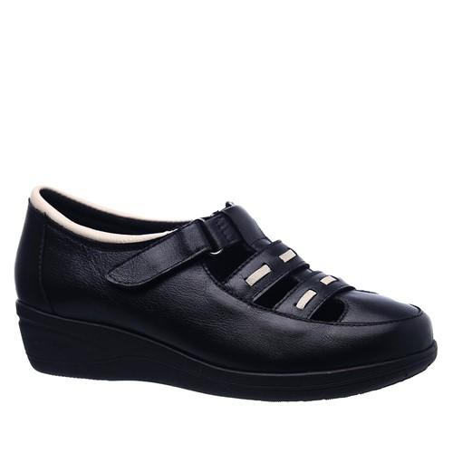Sapato Feminino Esporão 188 em Couro Preto/Neve Doctor Shoes