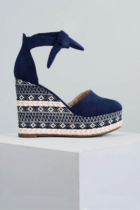 Sapato Feminino Anabela Caron Mundial CAM - MARINHO 36