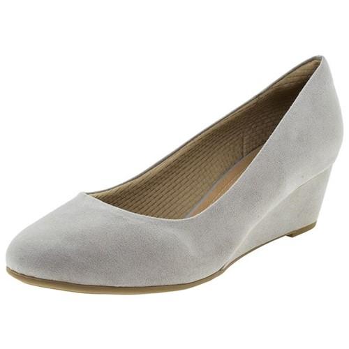 Sapato Feminino Anabela Cinza Piccadilly - 318001