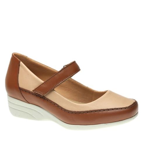Sapato Feminino Anabela em Couro Roma Wiscky/Rose 3144 Doctor Shoes