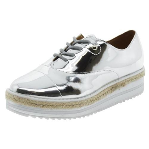 Sapato Feminino Oxford Flatform Prata Vizzano - 1241100