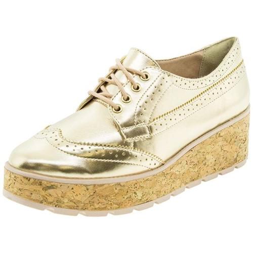 Sapato Feminino Oxford Ouro Ramarim - 1789101