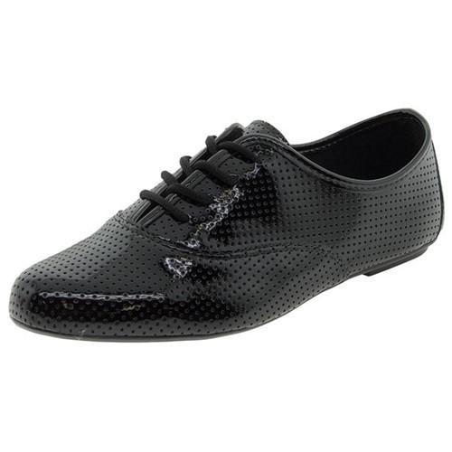 Sapato Feminino Oxford Preto Fiorella - 17900