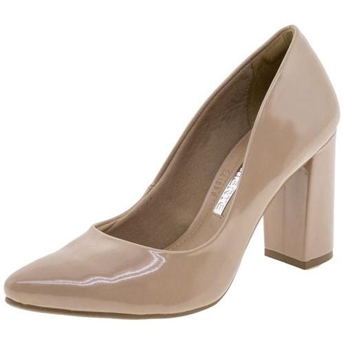 Sapato Feminino Salto Alto Nude Via Marte - 182205