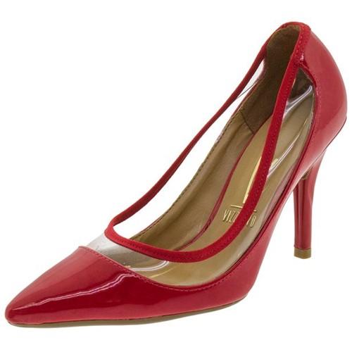 Sapato Feminino Salto Alto Vermelho Vizzano - 1184186