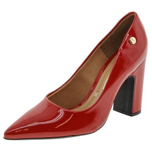 Sapato Feminino Salto Alto Vermelho Vizzano - 1285100