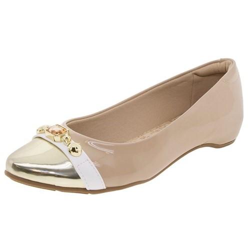 Sapato Feminino Salto Baixo Bege Modare - 7302115