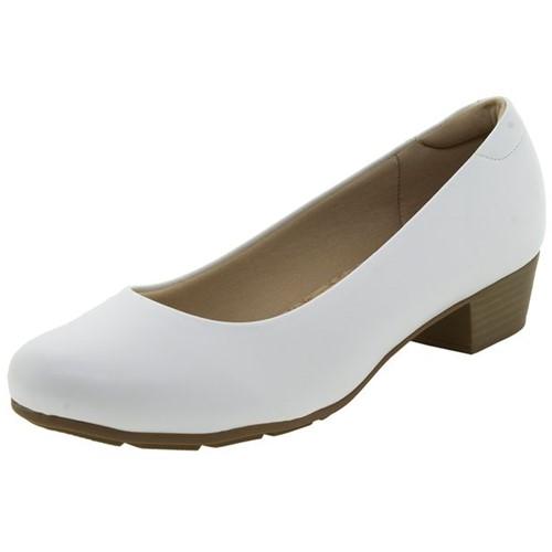 Sapato Feminino Salto Baixo Branco Modare - 7032200