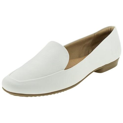 Sapato Feminino Salto Baixo Branco Piccadilly - 250149