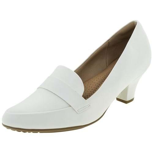 Sapato Feminino Salto Baixo Branco Piccadilly - 703015 40