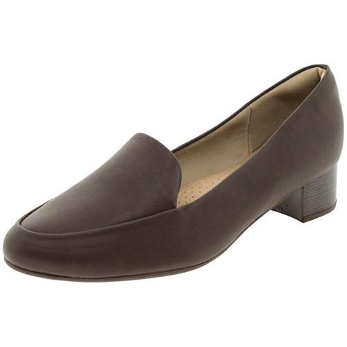 Sapato Feminino Salto Baixo Café Piccadilly - 140105