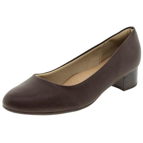 Sapato Feminino Salto Baixo Café Piccadilly - 140110