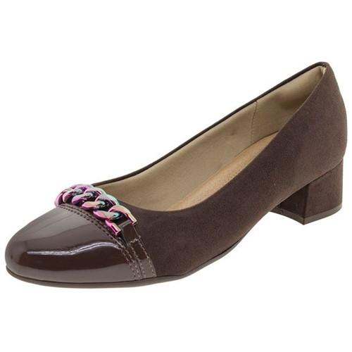 Sapato Feminino Salto Baixo Café Piccadilly - 141071