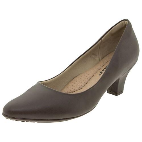 Sapato Feminino Salto Baixo Café Piccadilly - 703001