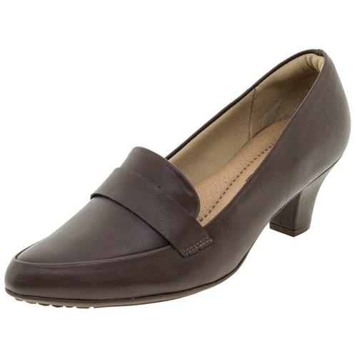 Sapato Feminino Salto Baixo Café Piccadilly - 703015
