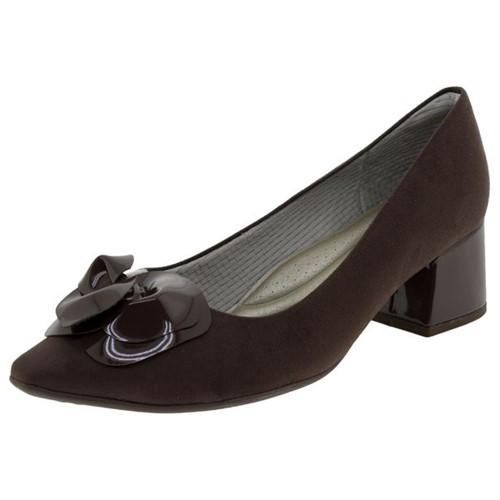 Sapato Feminino Salto Baixo Café Piccadilly - 744051