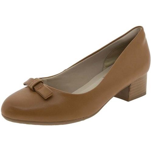 Sapato Feminino Salto Baixo Camel Ramarim - 1798106