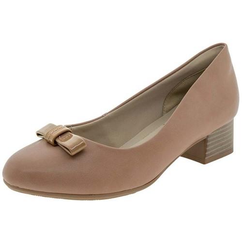 Sapato Feminino Salto Baixo Capuccino Ramarim - 1798106