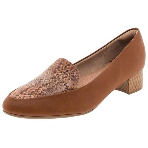 Sapato Feminino Salto Baixo Caramelo Piccadilly - 140105