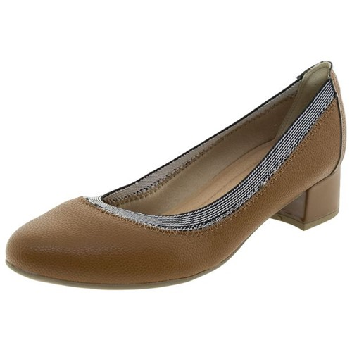Sapato Feminino Salto Baixo Caramelo Piccadilly - 141069