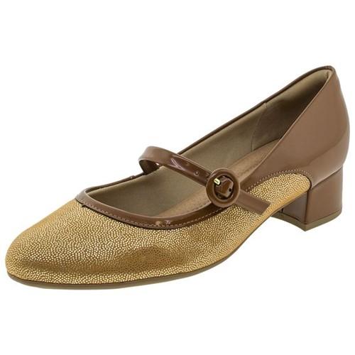 Sapato Feminino Salto Baixo Caramelo Piccadilly - 141073