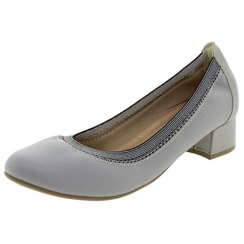 Sapato Feminino Salto Baixo Cinza Piccadilly - 141069