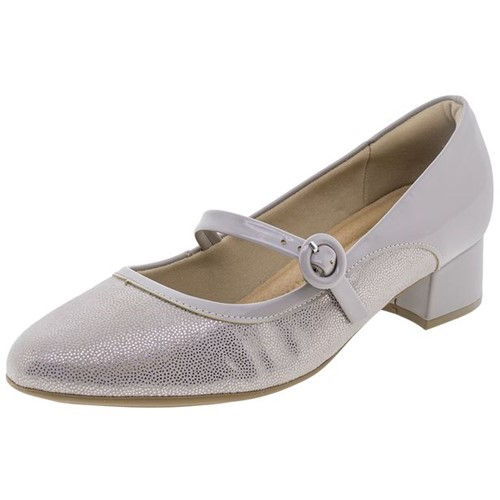 Sapato Feminino Salto Baixo Cinza Piccadilly - 141073
