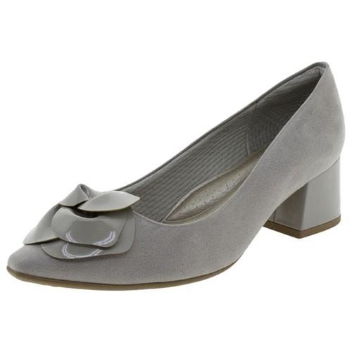 Sapato Feminino Salto Baixo Cinza Piccadilly - 744051