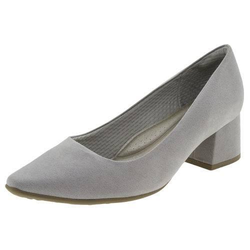 Sapato Feminino Salto Baixo Cinza Piccadilly - 744054