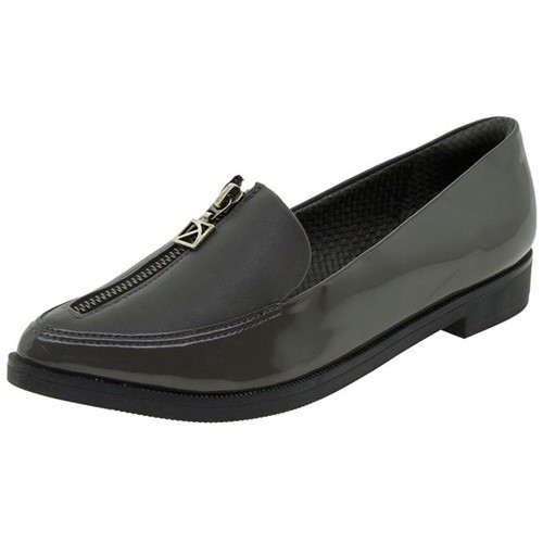 Sapato Feminino Salto Baixo Cinza Piccadilly - 725023