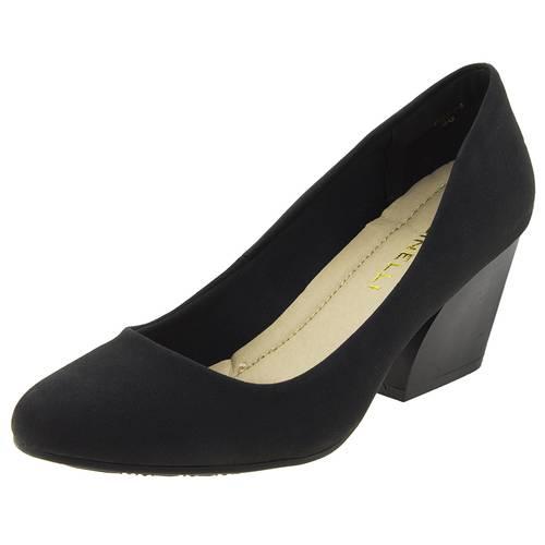 Sapato Feminino Salto Baixo Facinelli 62204 Preto 37
