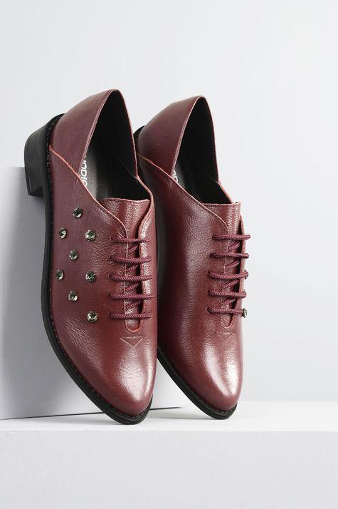 Sapato Feminino Salto Baixo Floyer Mundial CR - VINHO 39