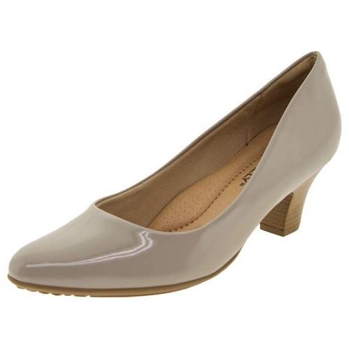 Sapato Feminino Salto Baixo Piccadilly - 703001 Cinza 35